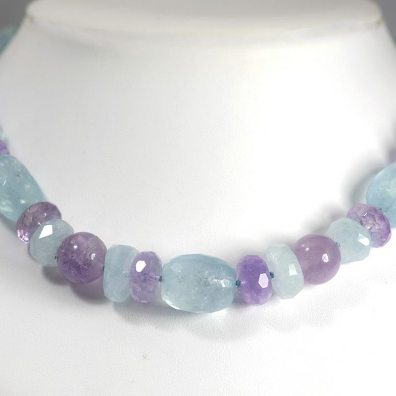 Aquamarine and Amethyst Necklace