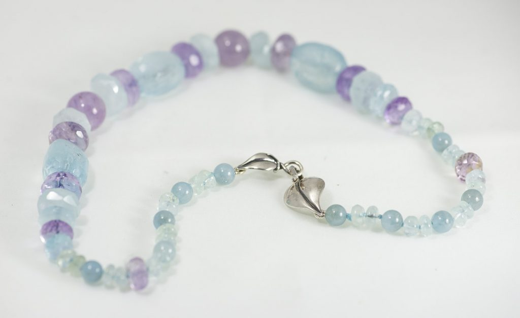 Aquamarine and Amethyst Necklace 2