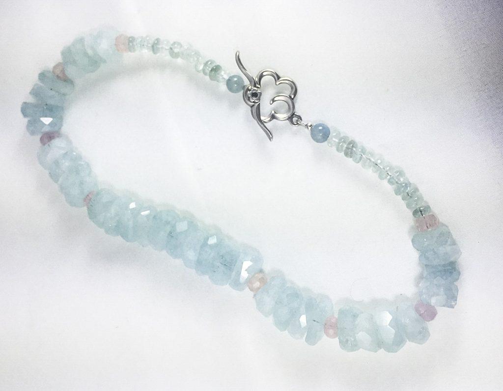 Aquamarine and Morganite Necklace 2