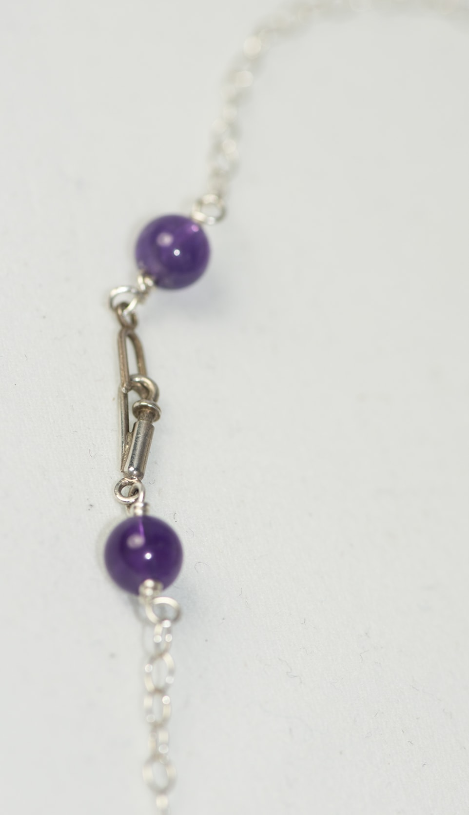 Lemurian Crystals, Amethyst Necklace Clasp