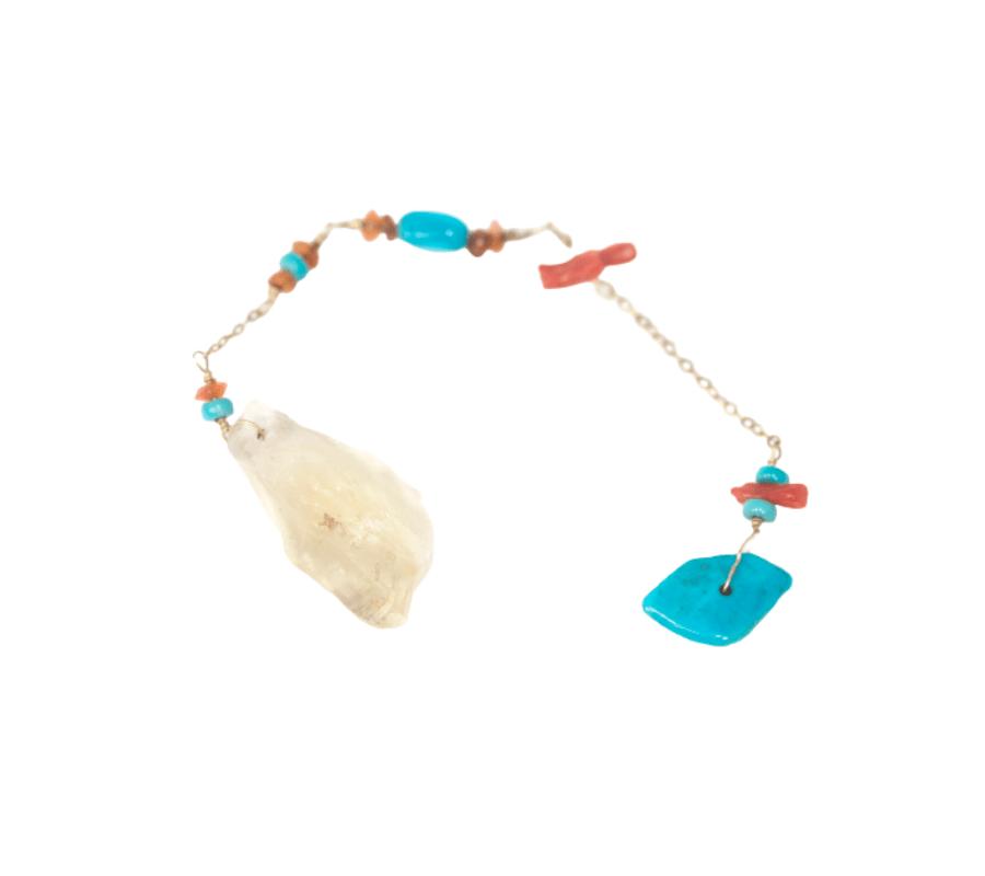 Citrine + Turquoise Pendulum