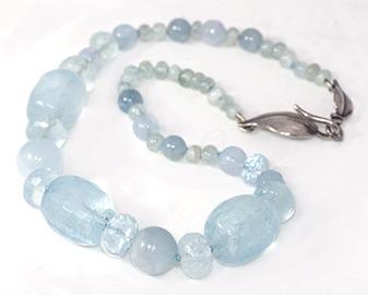 Gem quality Aquamarine hand knotted