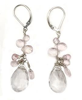 Clear Quartz, rose quartz, morganite
